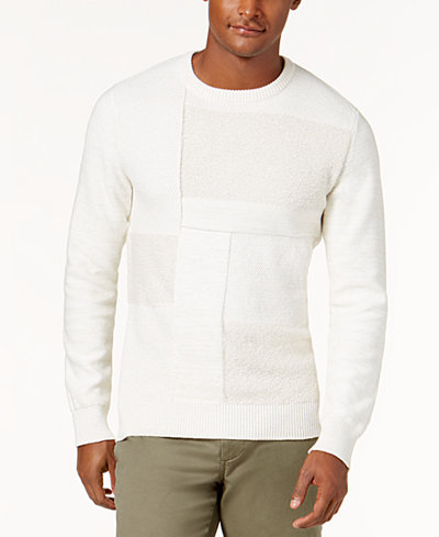 American Rag Men's Patchwork Sweater, Created for Macy's