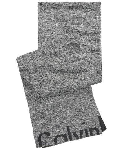 Calvin Klein Men's Cutoff Logo Scarf