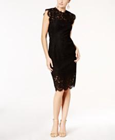 Rachel Zoe Open Back Cap-Sleeve Lace Dress