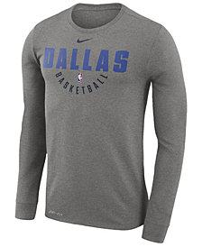 Nike Men's Dallas Mavericks Dri-FIT Cotton Practice Long Sleeve T-Shirt