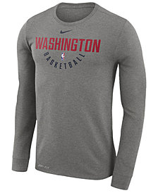 Nike Men's Washington Wizards Dri-FIT Cotton Practice Long Sleeve T-Shirt