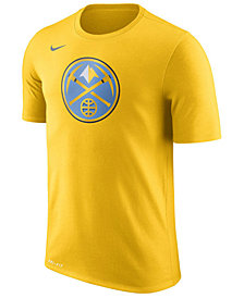 Nike Men's Denver Nuggets Dri-FIT Cotton Logo T-Shirt