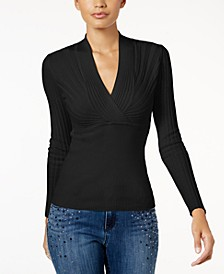 INC Petite Ribbed Pullover Sweater, Created for Macy's