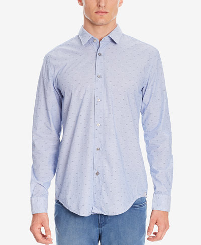 BOSS Men's Slim-Fit Fil Coupé Cotton Button Down Shirt