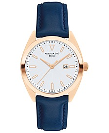 Women's Swiss Heritage Series Datron Blue Leather Strap Watch 31mm