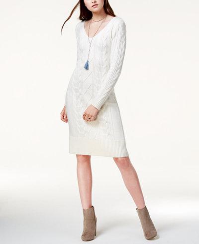 Joa Cable Knit Sweater Dress Juniors Dresses Macys