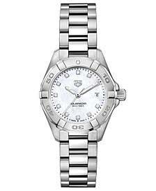 Women's Swiss Aquaracer Diamond-Accent Stainless Steel Bracelet Watch 27mm