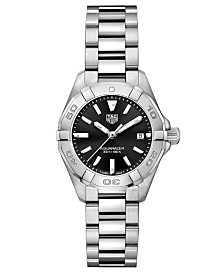 TAG Heuer Women's Swiss Aquaracer Stainless Steel Bracelet Watch  27mm