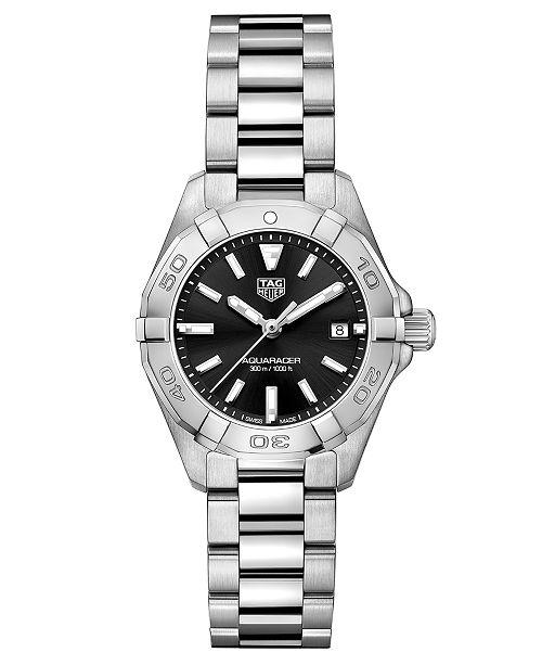 TAG Heuer Women's Swiss Aquaracer Stainless Steel Bracelet Watch  27mm