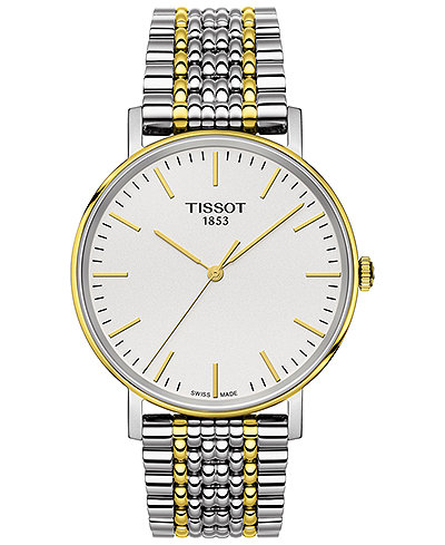 Tissot Men's Swiss Everytime Medium Two-Tone PVD Stainless Steel Bracelet Watch 38mm