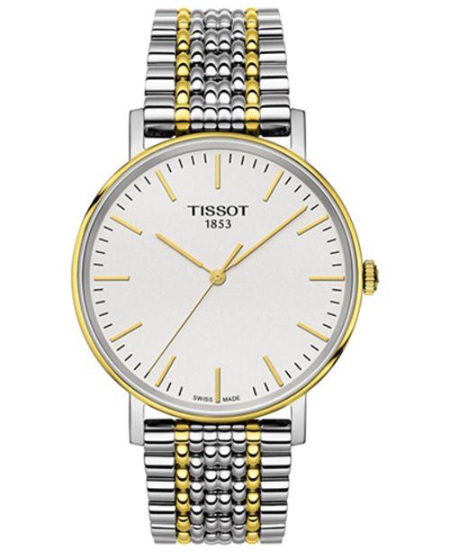 Tissot Men's Swiss Everytime Medium Two-Tone PVD Stainless Steel Bracelet Watch 38mm