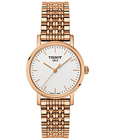 Tissot Women's Swiss Everytime Small Rose Gold-Tone PVD Stainless Steel Bracelet Watch 30mm