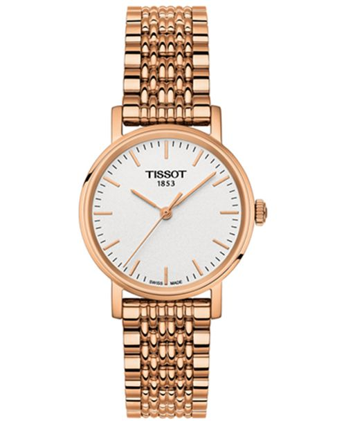 ... Tissot Women s Swiss Everytime Small Rose Gold-Tone PVD Stainless Steel  Bracelet Watch ... 0b69834dc0