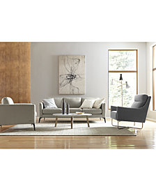 renleigh leather sofa collection - Contemporary Living Room Furniture
