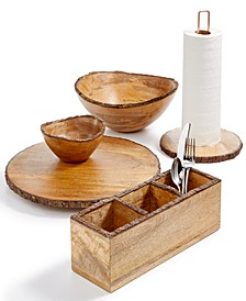 Bark-Edge Wood Serveware Collection