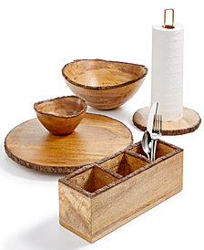 Thirstystone Bark-Edge Wood Serveware Collection