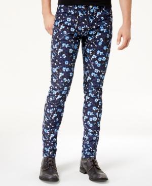 Versace Men's Leopard-Print Denim Jeans