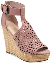 Marc Fisher Hasina T-Strap Platform Wedge Sandals