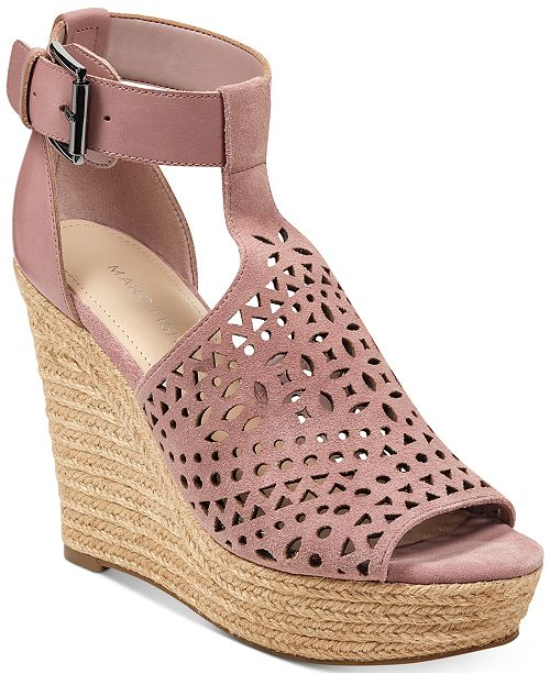 87fd0d322514 Marc Fisher Hasina T-Strap Platform Wedge Sandals   Reviews ...