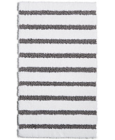 "Charter Club Elite Stripe 19.3"" x 34"" Fashion Bath Rug, ..."