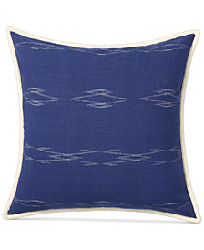 "CLOSEOUT! Lauren Ralph Lauren Luna Ikat 18"" Square Decorative Pillow"