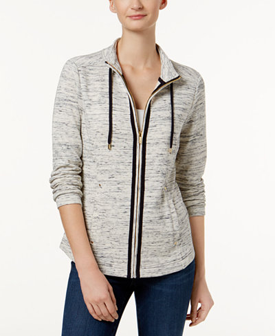 Charter Club Spacedye Active Jacket, Created for Macy's