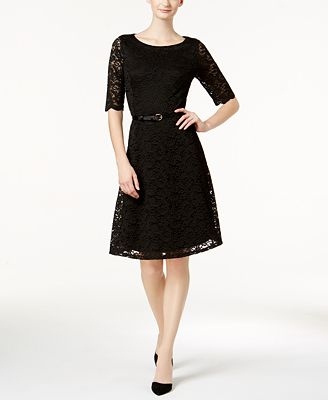 charter club belted lace dress created for macys