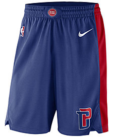 Nike Men's Detroit Pistons Icon Swingman Shorts