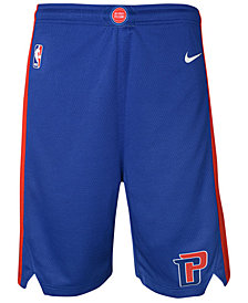 Nike Detroit Pistons Icon Swingman Shorts, Big Boys (8-20)