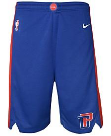 Nike Detroit Pistons Icon Swingman Shorts, Big Boys (8-20)