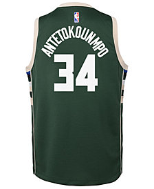 Nike Giannis Antetokounmpo Milwaukee Bucks Icon Swingman Jersey, Big Boys (8-20)