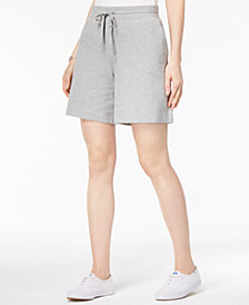 Karen Scott Petite Drawstring Knit Shorts, Created for Macy's