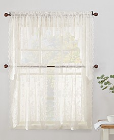 Alison Floral Lace Tier and Valance Collection