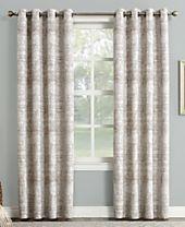 Sun Zero Darren Distressed Textured Global Jacquard Blackout Lined Grommet Curtain Panels