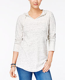 Style & Co Petite Space Dye Hoodie, Created for Macy's
