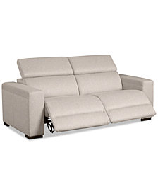 "Nevio 82"" 2-Pc. Fabric Sofa with 2 Power Recliners and Articulating Headrests, Created for Macy's"
