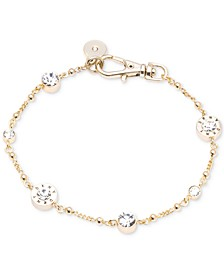 Crystal and Logo Station Bracelet, Created for Macy's