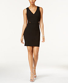 GUESS Sequined Fishnet-Back Dress