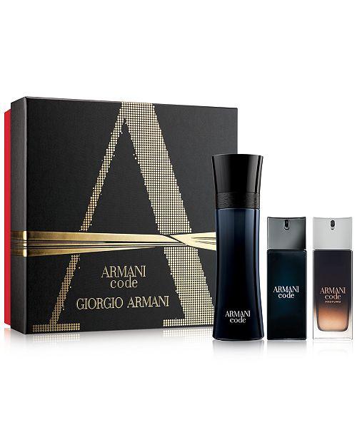 2008b01e25e3 Giorgio Armani Men s 3-Pc. Armani Code Gift Set - All Cologne ...