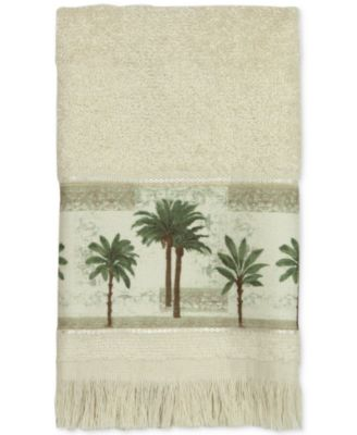 Citrus Cotton Palm-Print Fingertip Towel