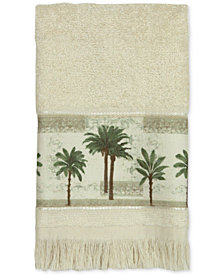 Bacova Citrus Cotton Palm-Print Fingertip Towel