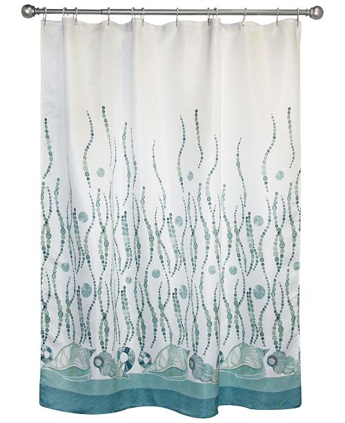 "Bacova La Mer 70"" x 72"" Graphic-Print Shower Curtain"