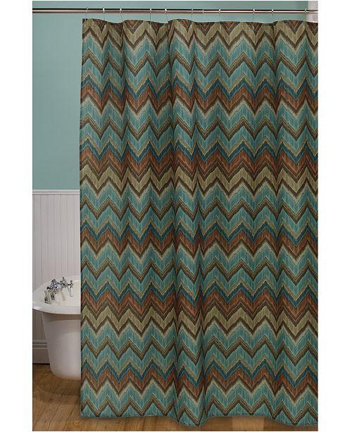 Bacova Sierra 70 X 72 Zig Zag Printed Shower Curtain
