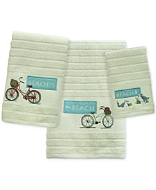 Bacova Beach Cruiser Cotton Embroidered Stripe-Jacquard Bath Towel