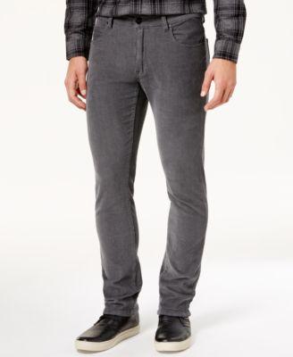 Grey Corduroy Pants Men u67cy0bf