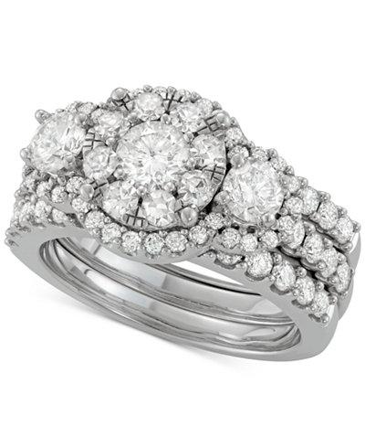 Diamond 3-Pc. Halo Bridal Set (2-5/8 ct. t.w.) in 14k White Gold