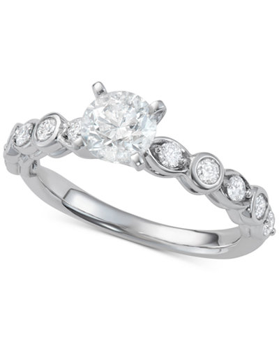 Diamond Engagement Ring (1-1/10 ct. t.w.) in 14k White Gold