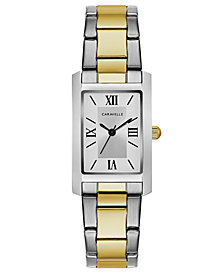 Caravelle Women's Two-Tone Stainless Steel Bracelet Watch 21x33mm