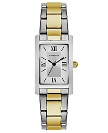 Caravelle Designed by Bulova  Women's Two-Tone Stainless Steel Bracelet Watch 21x33mm