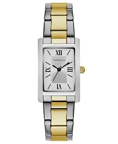 Caravelle Women's Two-Tone Stainless Steel Bracelet Watch 21x33mm